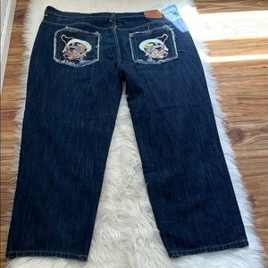 RMC Red Monkey Company Embroidered Jean 44 x 31